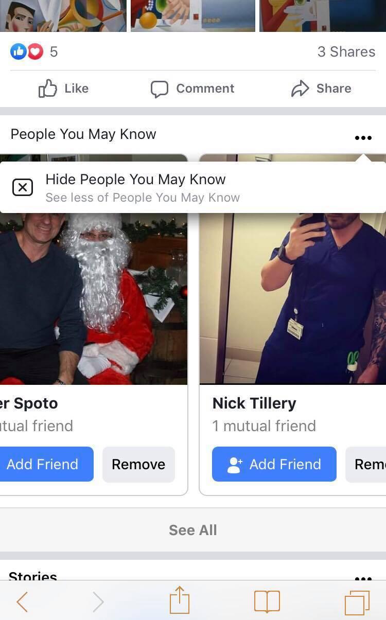 facebook friend suggestion