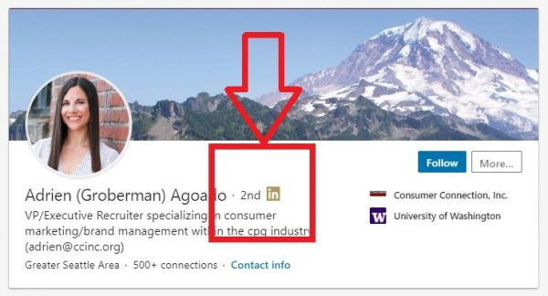 2nd degree of connection on LinkedIn