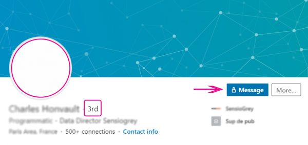 3rd circle contact on LinkedIn