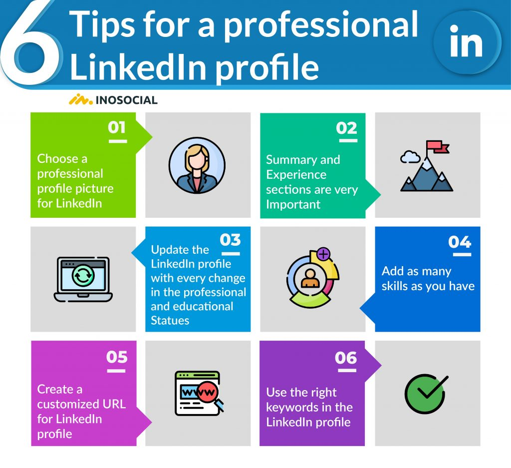 6 tips for a professional LinkedIn profile (infographic)