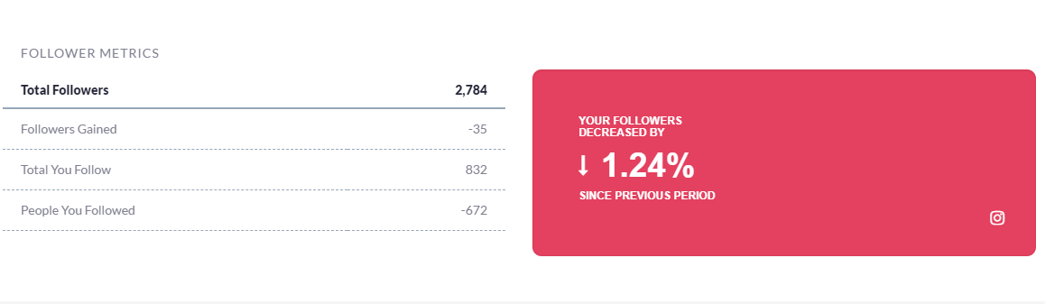 Instagram Followers metrics