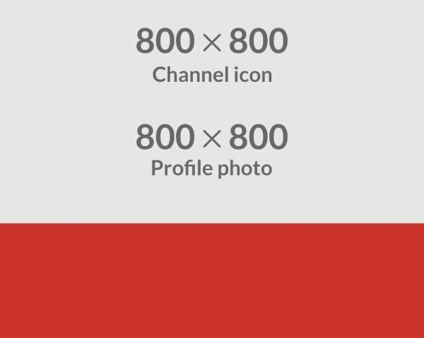 YouTube profile dimension