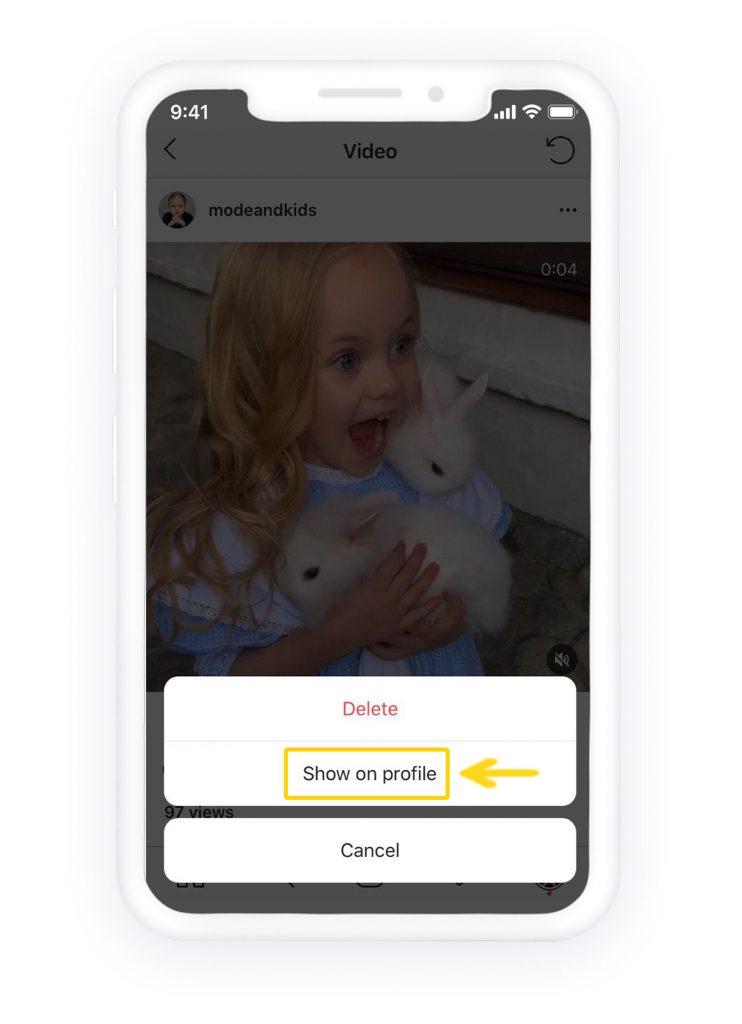 show Instagram photos on profile