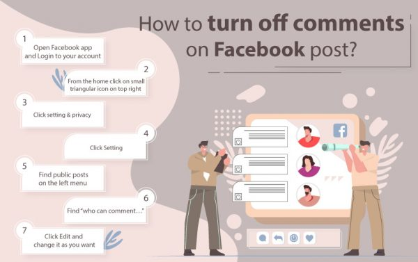 How to turn off comments on Facebook post(infographic)