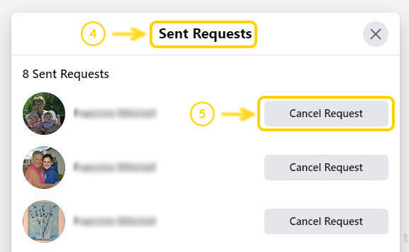 Step 3: Find Sent Requests