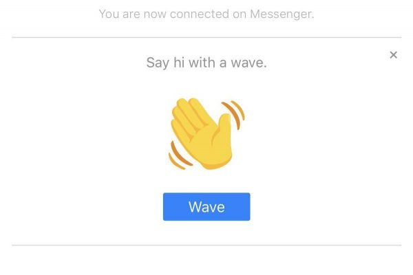Facebook Messenger wave
