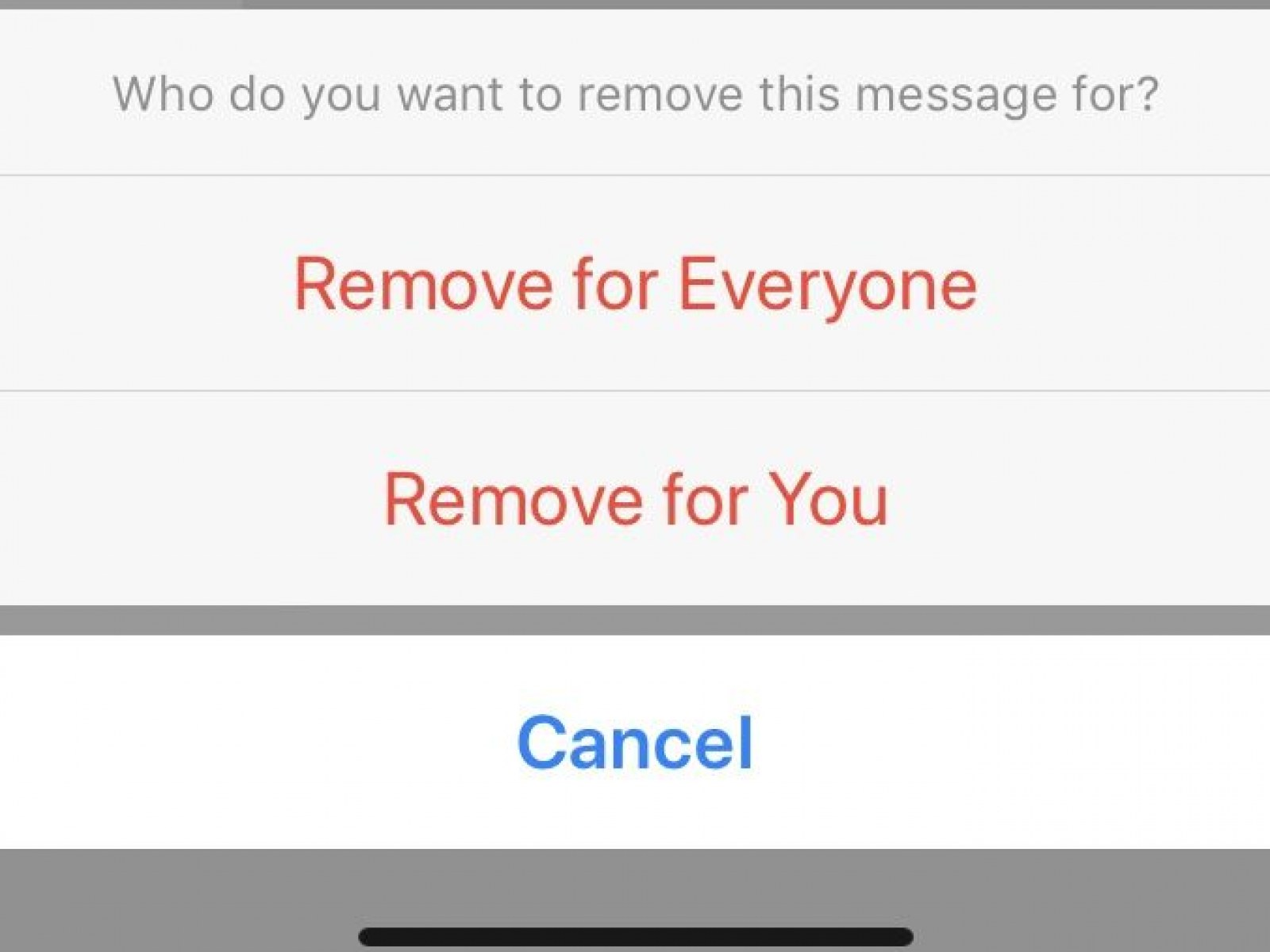Remove a wave for everyone on Facebook messenger